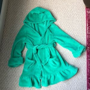 Gap little girls green cozy robe size 4